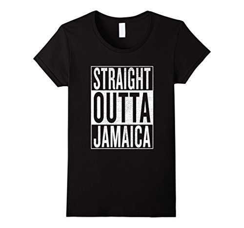 Womens Straight Outta Jamaica Great Travel   Gift Idea T Shirt Xl Black