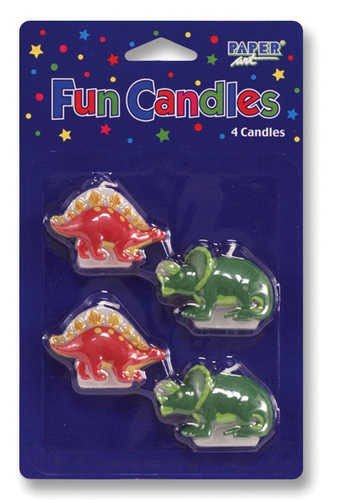 Dinosaur Molded Candle Set Package of 4