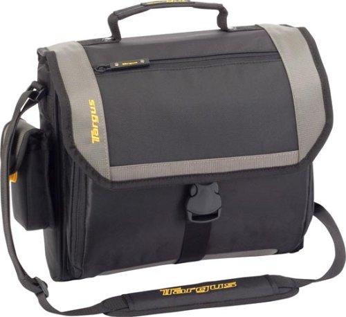 Citygear Notebook Case - Targus CityGear Atlanta Messenger Case for 13.3-Inch Notebooks, Black/Grey (TCG213T)