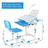 LAZY BUDDY Kids Desk and Chair Set, Height