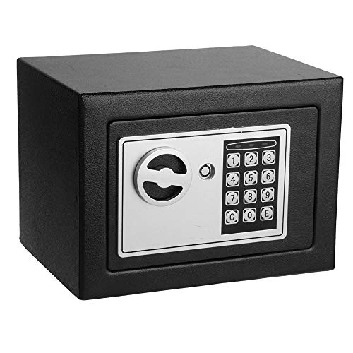 Dorfin Digital Safe Box Mini Steel Cabinet Safes with Keypad for Cash Document Jewelry Security Black    ()