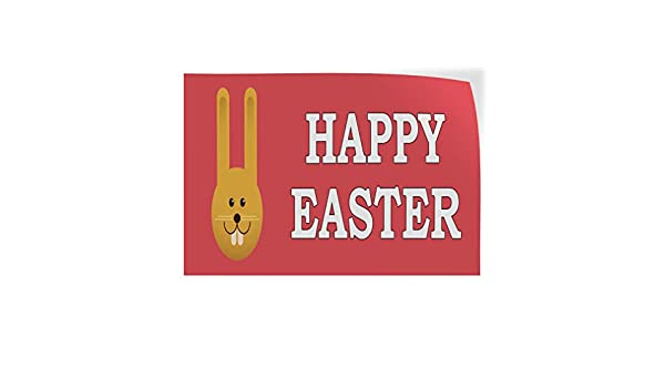 Decal Sticker Multiple Sizes Happy Easter Eggs Pink Holidays and Occasions Easter Outdoor Store Sign Pink One Sticker 69inx46in
