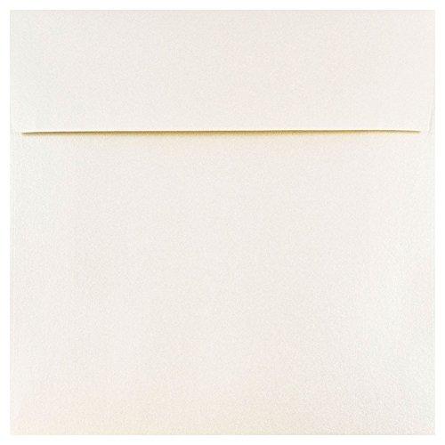 Stardream Opal Square - JAM PAPER 6 x 6 Square Metallic Invitation Envelopes - Opal Stardream - Bulk 1000/Carton
