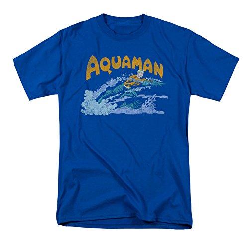 Aquaman Retro Swim Blue T-Shirt- Small