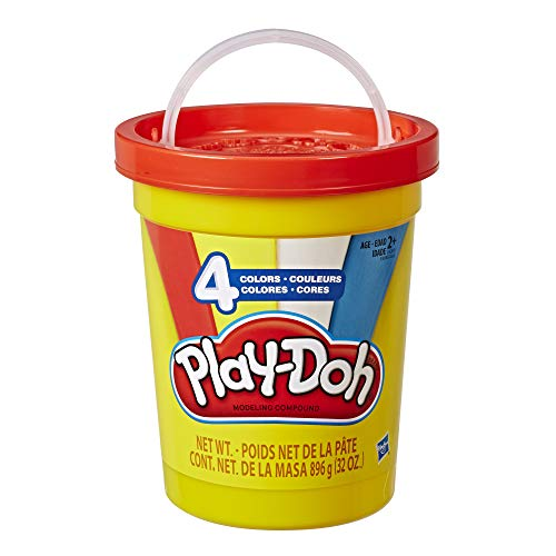 Super Modeling Dough - Play-Doh 2-Lb. Bulk Super Can of Non-Toxic Modeling Compound with 4 Classic Colors - Red, Blue, Yellow, & White