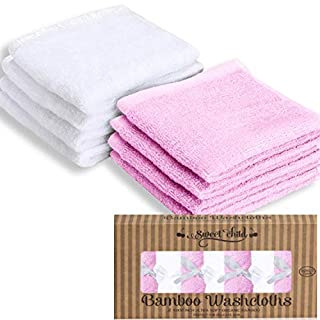 SWEET CHILD 100% Bamboo Luxurious Baby Washcloths (Bonus 8-Pack)