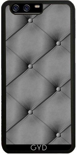 Funda de silicona para Huawei P10 - Gris Efecto Cuero Acolchado by wamdesign
