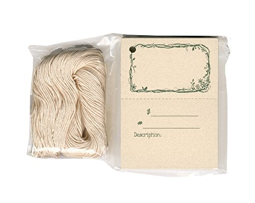 - 100 Craft Hang Tags TWIGS & FLOWERS & 100 Cut Strings for Crafts & Gifts. Personalize & Price your merchandise.