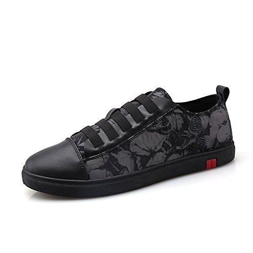 shoes Shufang Noir pour Homme Floral Mocassins 4waCq