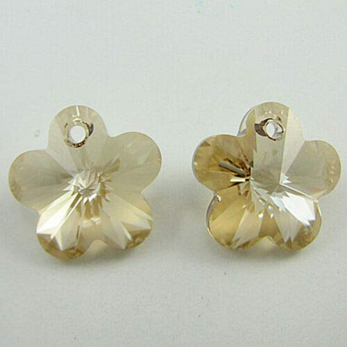 buyallstore 2 18mm Swarovski Crystal Flower Beads 6744 Golden Shadow