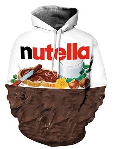 Capuche 3d Nutella Sweatshirt À D'impression Personnalité Pull Yimiao Unisex Hoodie Patterned Prints Multicolore Sweats wvx0Eq1O