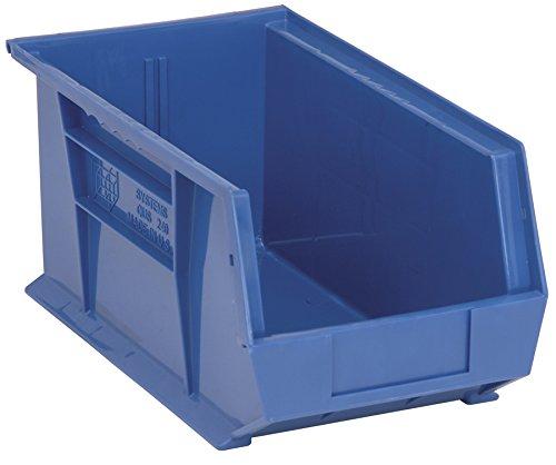 Aviditi BINP1487B, 14 3/4'' x 8 1/4'' x 7'' Blue Plastic Stack & Hang Bin Boxes (Pack of 12) by Aviditi