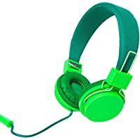Bass Jaxx Glow in the Dark Headphones w/Built in Mic Green