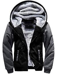 Men's Zip Up Fleece Hoodie Winter Heavyweight Sherpa Lined Warm Jacket