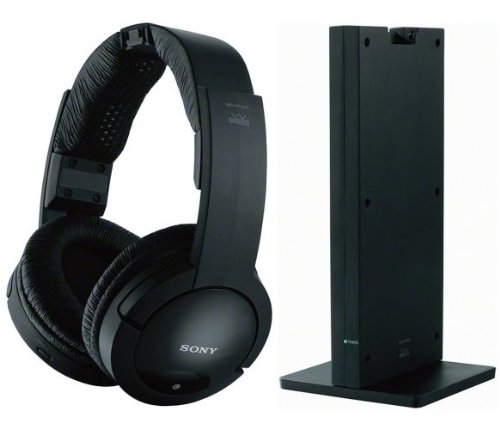 Sony 150 feet Expanded Long Range RF Wireless Noise Reducing Dynamic Stereo Headphones with Volume Control, Mute Switch & Adjustable Comfortable Wide Headband for all VIZO E420I-A1, E420VSE, E422AR, E472VLE, E552VLE, E601-A3, E601I-A3 & E701I-A3 LED LCD HDTV Flat Screen Television - Radio Frequency Transmission Works Even Through Walls