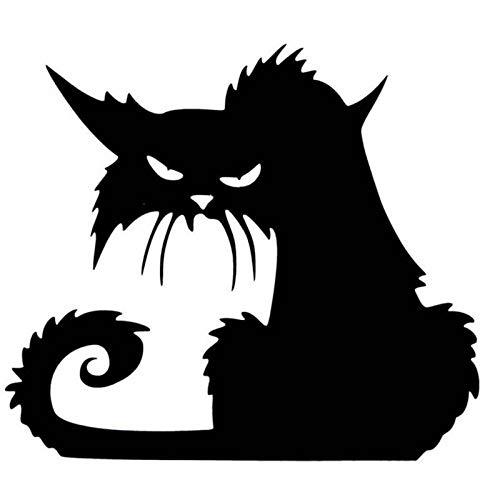 LELUN Pegatinas De Pared 3D Halloween Gatos Negros Decoración para ...