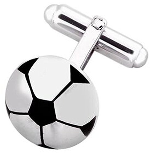 Select Gifts Sterling 925 Solid Silver Football Soccer Cufflinks Engraved Box