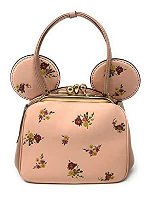 415bd6972b Coach x Disney Minnie Mouse Ears Pink Floral Kisslock Top Handle ...
