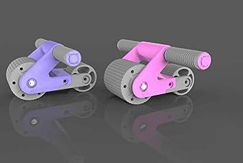 Shi18sport Rueda Abdominal Multipliegue Abdominal Silla Plegable Rueda Doble Rodamiento El Pop-Roller De La Mujer, A: Amazon.es: Deportes y aire libre