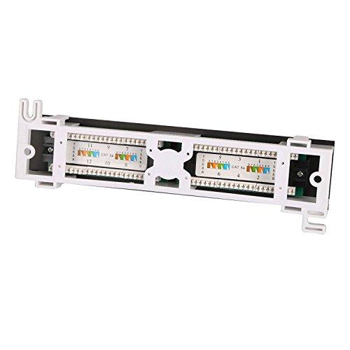 Dshot12 Port UTP 10 inch Cat5e network Wall Mount Surface Patch Panel Photo #2