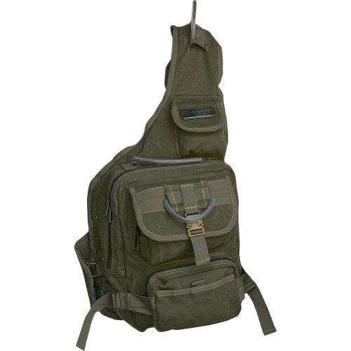 EuroSport Cargo Sling Backpack Olive Canvas Bag, Outdoor Stuffs