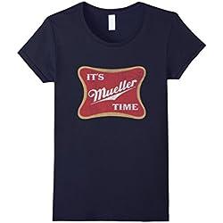 Womens It's Robert Mueller Time Anti Trump 2017 Resist Tee Shirt Medium Navy