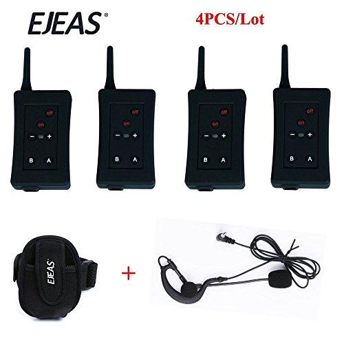 Vnetphone Football Referee Intercom Headset FBIM 1200M Wireless Full Duplex Bluetooth Interphone with FM 800mah 4 sets/lot by VNETPHONE