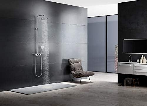 Conjunto de ducha con grifo monomando,barra acero inoxidable y ...