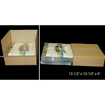 Amazon Com 100 White 1 3 Vinyl 12 Quot Record Cardboard