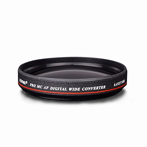 ZOMEI Ultra Slim 58mm 0.45x Wide Angle Filter Lens for Nikon Camera by ZoMei