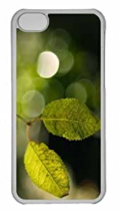 LJF phone case Customized ipod touch 5 PC Transparent Case - Two Leaves Bokeh Personalized Cover