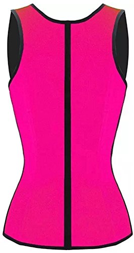 Baby Qq Comfortable Womens Sport Latex Waist Trainer Corset Vest Cincher Body Shaper Vest Rose Red3xl Us Size 12 14