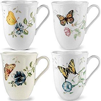 - Lenox Butterfly Meadow 12oz Mugs, Assorted Set of 4