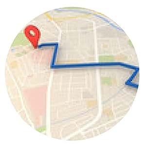 alfombrilla de ratón mapa de la ciudad con la representación 3d Pin punteros con - ronda - 20cm