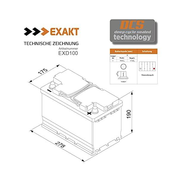 41ZTGZBqUNS Solarbatterie 100Ah 12V EXAKT DCS Wohnmobil Versorgung Boot Solar Batterie Größenwahl (100AH 12V)