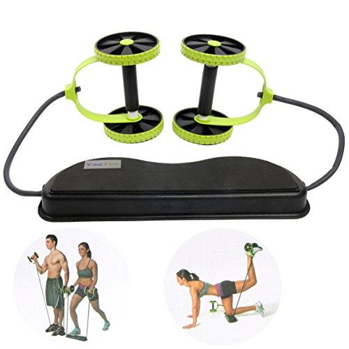 YaeTek Sport Core Double AB Power ab roller ab wheel fitness Abdominal exercises Equipment coaster Pull roda Waist Slimming Trainer