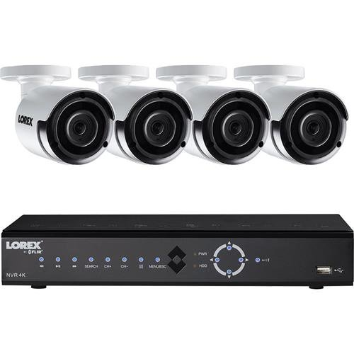 Lorex 8-Channel, 4-Camera Indoor/Outdoor Wired 2K 2TB DVR Surveillance System LNK71082TC4B