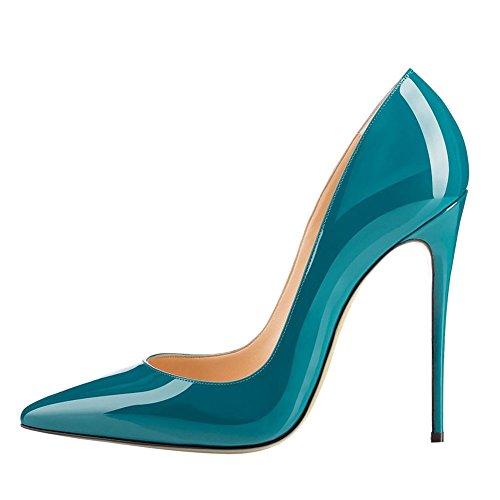 MERUMOTE - Zapatos de tacón fino Mujer - Teal-Lackleder