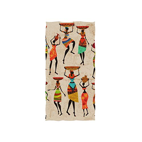 WIHVE Hand Towel Retro Beautiful African Women Ultra Soft Luxury Kitchen Bath Guest Hand Towels 15x30 Inch