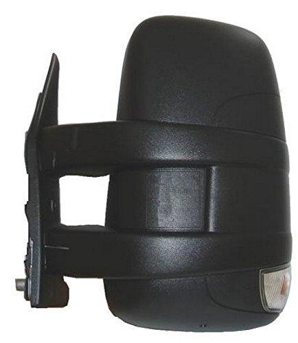 de color negro manual con brazo corto y faro Espejo retrovisor izquierdo