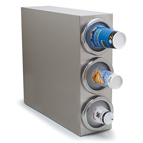 - Carlisle 38883G 18-8 Stainless Steel Vertical Cabinet Cup Dispenser, 3 Dispenser Tubes, 25