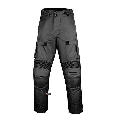 Motorcycle Textile Pants Waterproof Cruiser Touring Riding Armor Black 36w 30i by Jackets 4 Bikes (Image #7)
