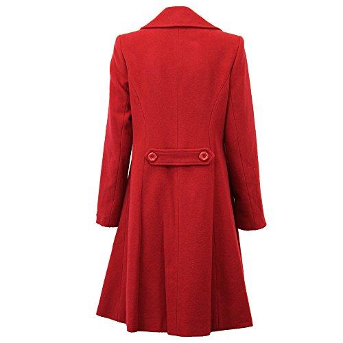 Sapphire Rouge Wolp0335 Laine Manteau En Sky Doublé Femme Pour qxgZqPBrw