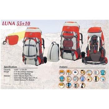 High Peak Luna 55+10 Women Camping Rucksack Backpack, Outdoor Stuffs