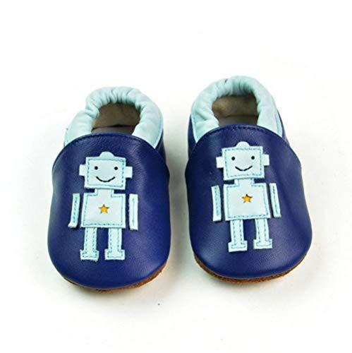 VASHCAME-Baby's Prewalker of Soft Leather Non-Slip Breathable Sneaker Toddler Shoes for Newborn Children Boy Girl Infant Robot S (0-6 ()