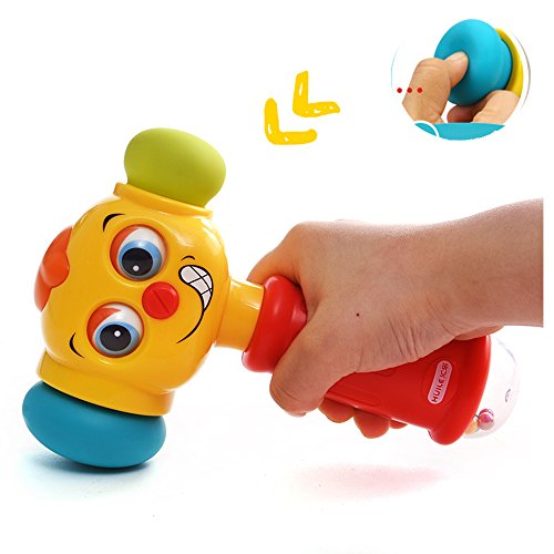 HOMOFY Baby Toys Funny Changeable Hammer Kids Toys for 6 Months up,Multi-function,Lights and Music for Toddlers Infant Boys and Girls 1 2 3 Years Old -Best New Gifts (Funny Hammer toys)