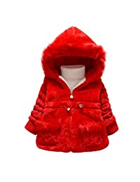 3 Colors Infant Girls Boys Winter Thick Warm Hoodies Jackets Outerwear Clothing