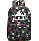 Game Fortnite backpack Luminous fluorescence men double shoulder pack and black mixed lattice schoolbag