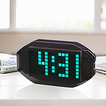 KKmoon DIY Black Digital LED Clock Matrix Desktop Alarm Clock Electronic Learning Kit Module with Remind Function ℃/℉ Temperature Display Indoor Thermometer ...
