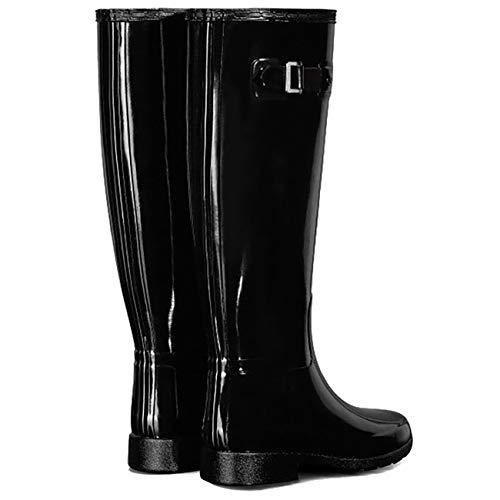 Femme Noir Original Tall Gloss Bottes black Hunter XBaZqq